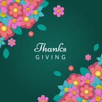 Vettore di carta floreale grazie Giving Vector