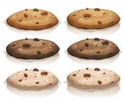 Biscotti classici e al cioccolato marroni vettore