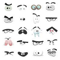 Set di occhi comici
