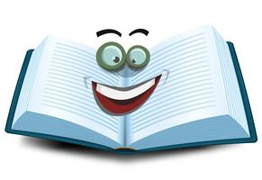 Icona del carattere del libro aperto vettore