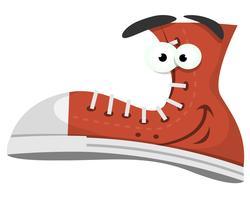 Carattere divertente delle scarpe vettore