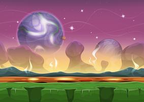 Fantascienza Fantascienza Paesaggio alieno per gioco Ui