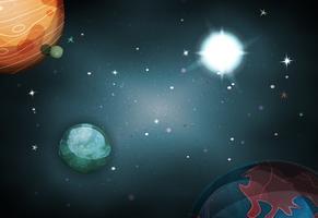 Scifi Space Background Per Ui Game vettore