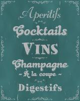 Ristorante francese alcol e sfondo di bevande