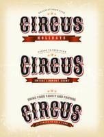 Bandiere del circo su sfondo vintage vettore