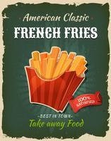 Poster di patatine fritte retrò fast food