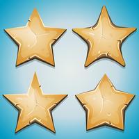 Icone di stelle di sabbia per il gioco dell'interfaccia utente