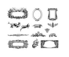 Confezione di cornici decorative vettore