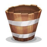 Secchio di legno dei cartoni animati