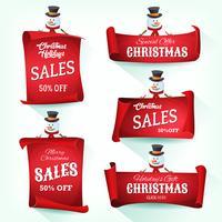 Pergamena di Natale con pergamena di Natale vettore