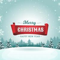 Cartolina d'auguri di vacanze di buon Natale