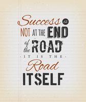 Citazione ispiratrice sul successo su sfondo d'epoca