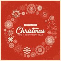 Cartolina d'epoca di buon Natale vettore