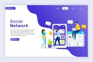 Banner web di social network vettore