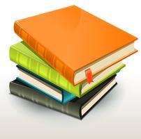 Mucchio di album di libri e foto vettore