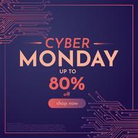 disegno vettoriale di cyber lunedì