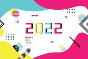modello banner felice anno nuovo 2022 vettore