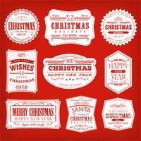 Cornici, striscioni e distintivi di Natale