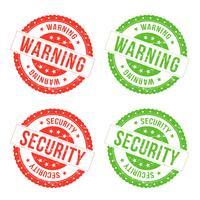 Avvertenze e sigilli di sicurezza vettore