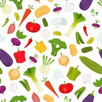 Sfondo di verdure senza soluzione di continuità vettore