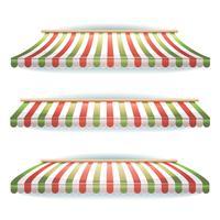 Set di tende a strisce italiane per pizzeria italiana