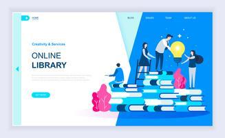 Banner Web di libreria online vettore