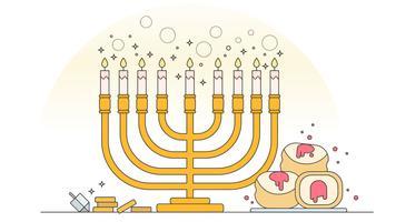 vettore di menorah hanukkah