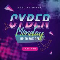 Cyber Monday Social Media Post vettore