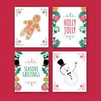 Collezione di cartoline di Natale carino