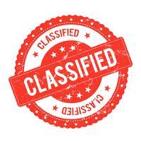 Certificato di sigillo di archivio classificato vettore