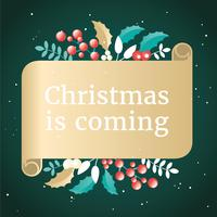 vector design cartolina d'auguri di Natale
