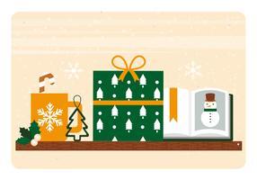 Illustrazione di elementi di Natale di vettore