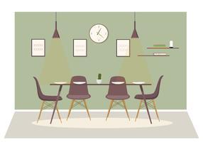 Illustrazione di sala da pranzo di vettore