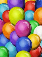 Sfondo di palloncini festa di Carnevale vettore