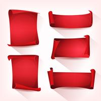 Set pergamena per circo rosso vettore