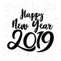 Felice anno nuovo lettering tipografico 2019