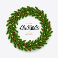Abete di Natale sfondo, aspetto realistico, design vacanza