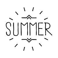 Emblema di estate, emblema retrò hipster, illustrazione vettore