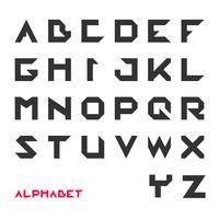 Carattere geometrico, tipografia futuristica moderna vettore