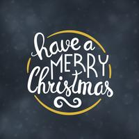 Illustrazione di vettore di progettazione di tipografia di Buon Natale