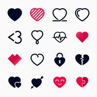 Set di simboli del cuore per San Valentino