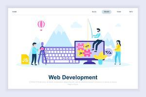 Sviluppo Web moderno concetto di design piatto vettore