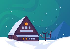 Awesome Winter Village Vectors