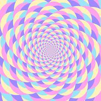 Sfondo di illusione movimento circolare olografico colorato whirlpool