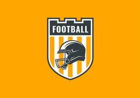 American Football Emblem Logo Castle Shield Vector