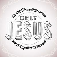 Only Jesus Hand Lettering vettore