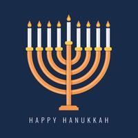 Traditional Menorah For The Jewish Hanukkah Festival vettore