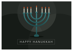 Happy Hanukkah Candle vettore