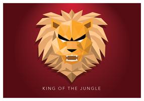King Of The Jungle Geometric Shape vettore