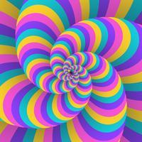 Priorità bassa di illusione movimento circolare 3D Swirl vettore